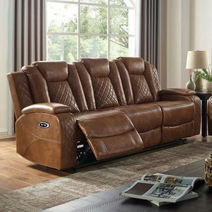 Brown power recliner sofa couch/No Credit Needed Apply Today for Sale in Downey, CA