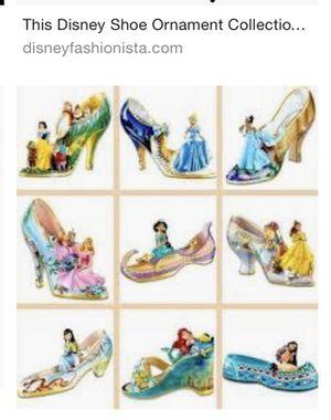 Porcelain princess shoe ornaments for Sale in San Diego, CA