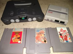 Old video gaming Nintendo 64 unit Nintendo units couple of games for Sale in Phoenix, AZ