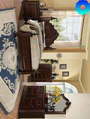 Breitenbrunn Dark Cherry Poster Bedroom Set | Recamara no mattress for Sale in Killeen, TX