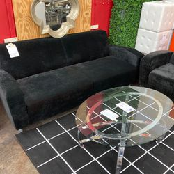 Black Suede Sofa for Sale in Winchester,  MA