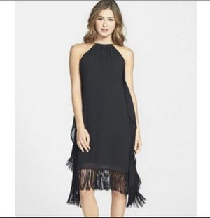 New michael Kors black fringe cocktail evening dress Sz small for Sale in Lafayette Hill, PA