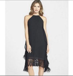 New michael Kors black fringe cocktail evening dress Sz small for Sale in Philadelphia, PA