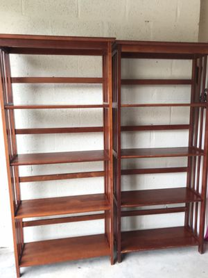 Two large bookshelves for Sale in Palm Beach Gardens, FL