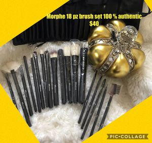 Morphe 18 pz brush set 😍100 % authentic $40 ready for pick up now in southgate for Sale in South Gate, CA