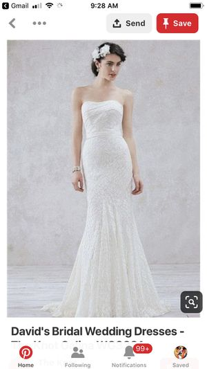 Galina Wedding Dress- size 6 for Sale in Denver, CO