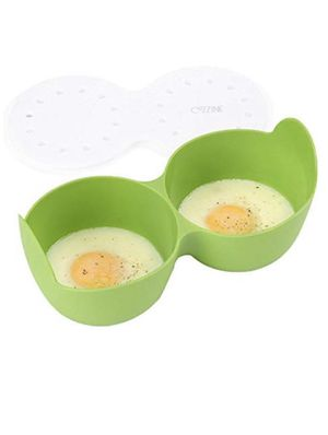 Microwave Egg Poacher, Cozzine Silicone Egg Cooker Poaching Cups Egg Rings for Microwave, 2 Cavity with Ring Standers, BPA Free for Sale in Montclair, CA