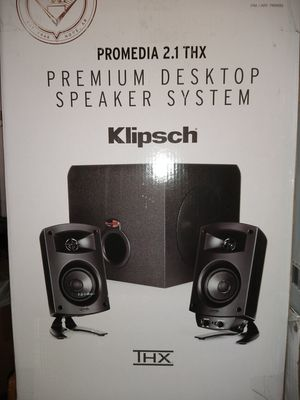 Klipsch Pro Media 2.1 desktop speakers for Sale in Portsmouth, VA