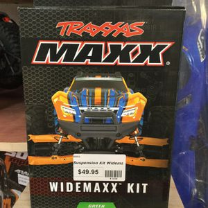 Traxxas Widemaxx Suspension Kit in Green for Maxx 4S @ Parkflyers RC Hobby Shop in Lakewood NJ for Sale in Lakewood Township, NJ