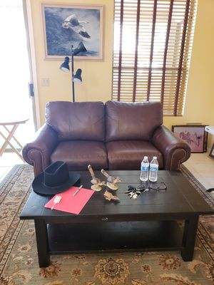 Lazyboy leather loveseat, recliner, coffee table for Sale in Chandler, AZ