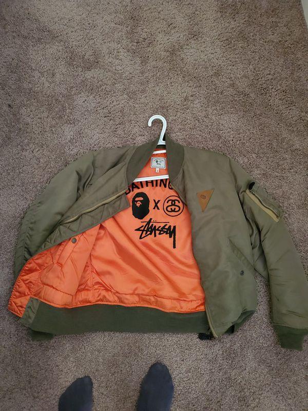 Bape x Stussy Bomber Jacket sz Medium