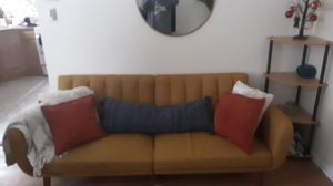 Mustard couch for Sale in Staten Island, NY