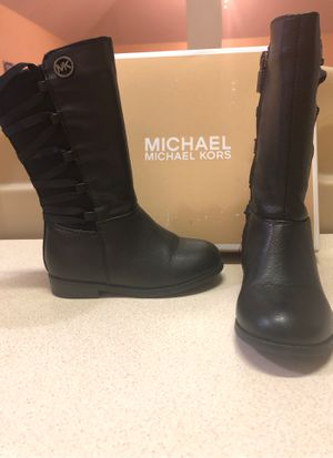 Micheal Kors Black Boot size 7 girls for Sale in Grand Prairie, TX