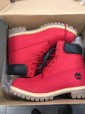 Red Timberland size 9 for Sale in Miami, FL