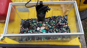 Fish tank with filter decorations and rocks for Sale in Tomball, TX