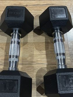 Rubber Hex Dumbbells Set 15 Pounds Brand New for Sale in Los Angeles,  CA