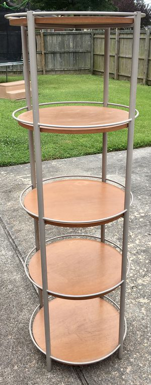 Tall-Round Wood & Metal Shelving Unit for Sale in Portsmouth, VA