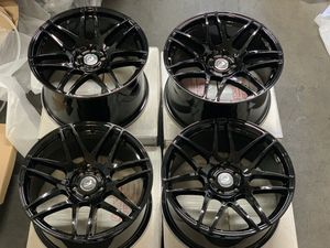 Rims for sale 19x9.5 19x11 gloss black for Sale in Anaheim, CA