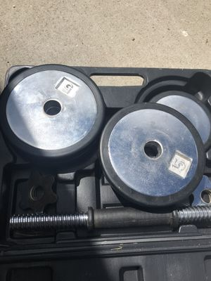 Two BOXES 4-5lb 4-21/2 lb weights with barbell for Sale in Westminster, CO