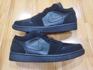 Nike Air Jordan 1 Low Triple Black size 10 Chicago Bulls UNC Bred for Sale in El Monte, CA