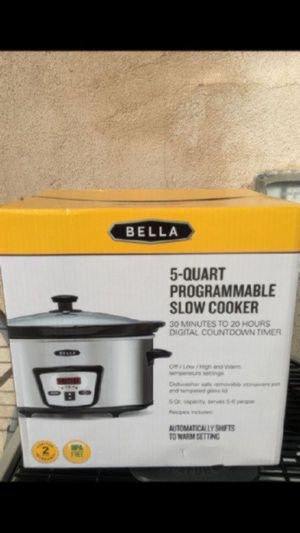 Stainless steel 5 Quart programmable slow cooker $28 for Sale in Burbank, CA