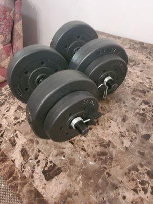 Adjustable dumbell weights 50 lbs total for Sale in Zephyrhills, FL