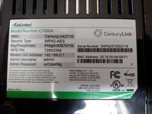 ActionTec 1000a DSL modem