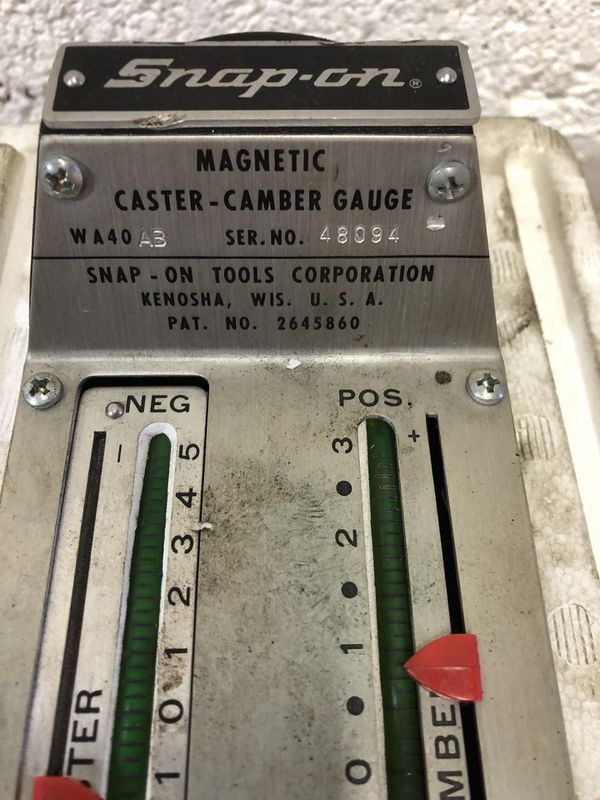 Snap On Magnet Camber And Caster Gauge
