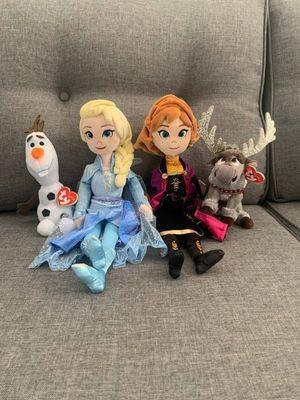 Ty Frozen 2 Plush Medium Elsa & Anna & Regular Olaf & Sven Plush Stuffed Animals for Sale in Tustin, CA