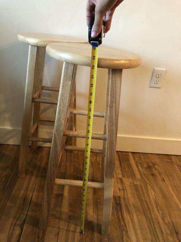 """Mainstays Fully Assembled 29"""" Natural Wood Bar Stool"""