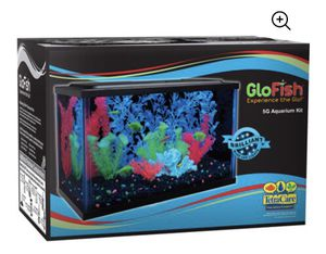 New GloFish Aquarium Kit 5 gallon Fish Tank W/Tetra Whisper Filter Cartridge for Sale in Hemet, CA
