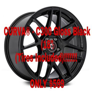 "CURVA® - C300 Gloss Black (18"" x 9.5"", +35 Offset, 5x112-120.65 Bolt Pattern, 73.1mm for Sale in Las Vegas, NV"