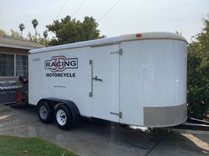 Enclosed cargo trailer 16x7 ramp door with side door for Sale in Riverside, CA