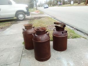 Old milk cans $60.00 each for Sale in Beaumont, TX