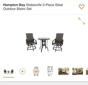 Brand new in box Hampton bay outdoor bistro set brand new in box for Sale in Kissimmee, FL