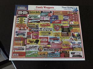 White Mountain Puzzle 1000 Pieces: Candy Wrappers for Sale in Goodyear, AZ