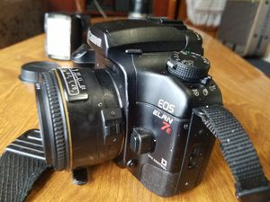 Canon Eos Elan 7E with macro lense. I also have micro zoom lens EF 28-105mm lense and speed lite 540 EZ flash. for Sale in Clarkston, GA
