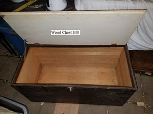 Wood Chest $30 for Sale in Dresden, OH