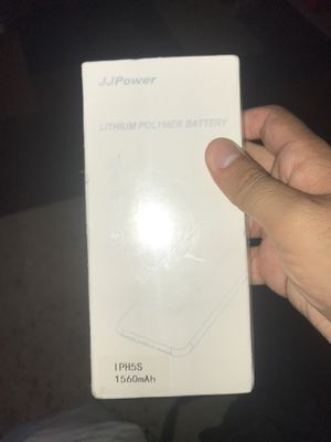 JJ POWER. iPhone 5s. Lithium polymer battery 1560! Mah for Sale in Los Angeles, CA