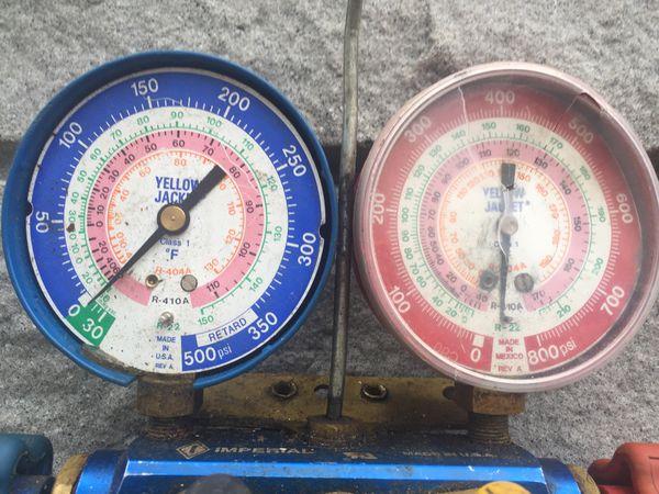 Yellow jacket Freon gauges $40