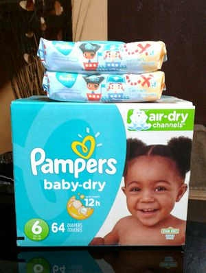 Pampers #6 y wipes $26 for Sale in Gardena, CA