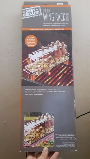 New Chicken Wing Rack.. with grill tray for Sale in San Jose, CA