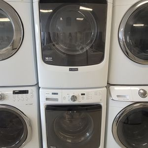 Maytag Front Load Washer And Electric Dryer Set Used In Good Condition With 90day's Warranty for Sale in Brentwood, MD