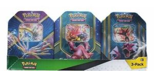 Pokemon Trading Card Green Tin 3-Pack - Volcanion / Shiny Gyarados / Xerneas NEW for Sale in Mundelein, IL