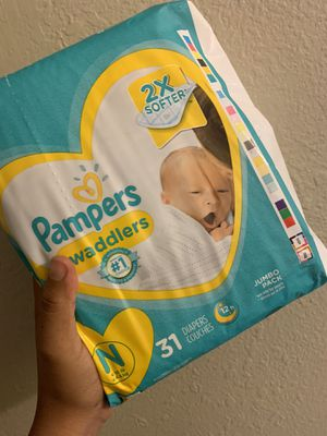 Pampers size NB for Sale in Lake Elsinore, CA