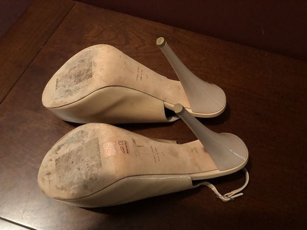 111eac5767d95 Giuseppe Zanotti nude/blush patent peep toe heels size 41 for Sale ...