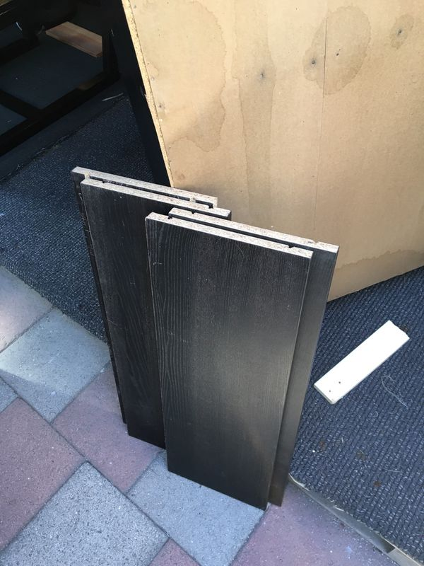 Set Of 3 Black Bookshelves , Availab Individual $15 Ea