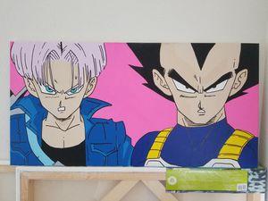 Dragon Ball Z Future Trunks & Vegeta Great Size 30x15 inch for Sale in Santa Monica, CA