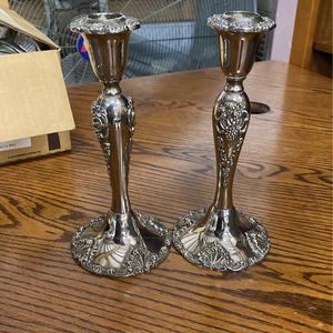 Pair Of Vintage Godinger Candle Holders for Sale in Granite Falls, WA