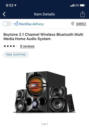 Boytone multi media home audio system for Sale in New Port Richey, FL